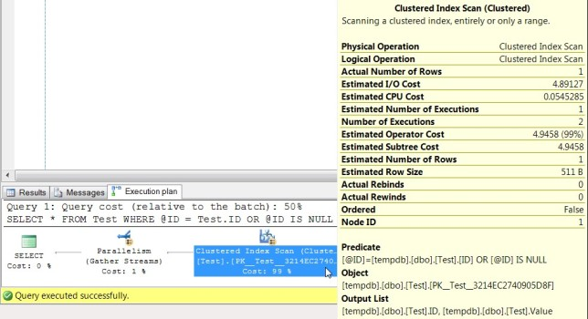 Execution Plan of Query 1