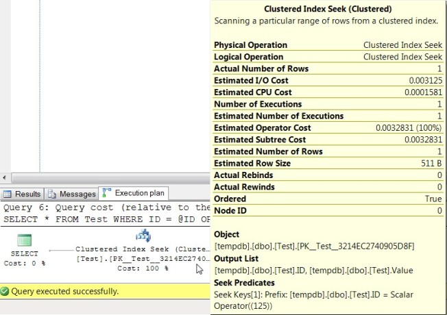 Execution Plan of Query 6
